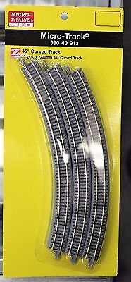 Z Scale - MICRO-TRAINS MTL 990 40 913 Curved Track Pack R220mm x 45*- 12 Pieces