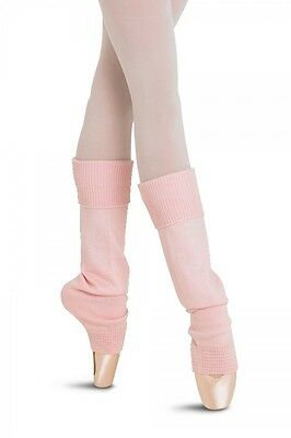 NWT Supersoft Bloch Lt Pink Eliane Ankle Legwarmers Ribbed Cuff Ladies Sz  W0962