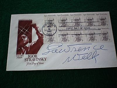Lawrence Welk Signed Music First Day Cover (Deceased 1992)