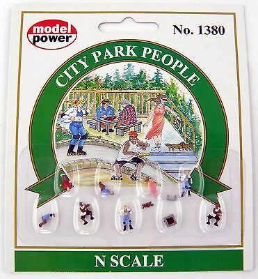N Scale City Park People (9 pcs) - Model Power #1380