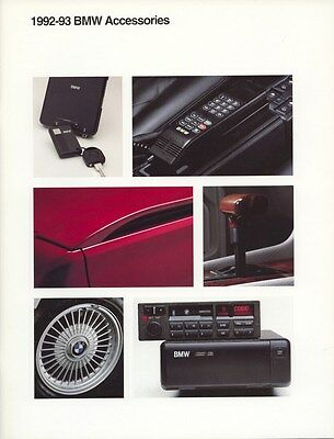 1992 1993 BMW Accessories Jackets Clothing Watches Luggage Models Brochure d0848