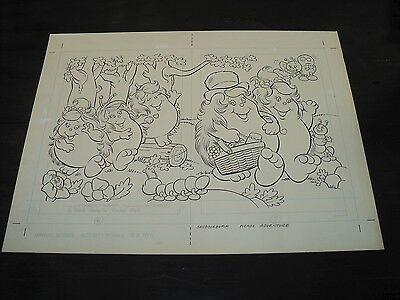 Snugglebumm Coloring Book Original Artwork RARE! Stan Goldberg! ART#0555
