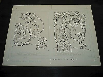 Snugglebumm Coloring Book Original Artwork RARE! Stan Goldberg! ART#0565
