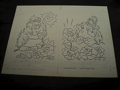 Snugglebumm Coloring Book Original Artwork RARE! Stan Goldberg! ART#0560