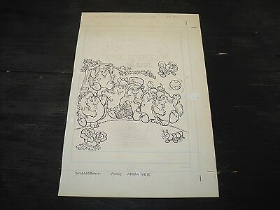 Snugglebumm Coloring Book Original Artwork RARE! Stan Goldberg! COVER ART#0550
