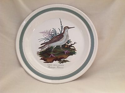 "Portmeirion Rare Grey Phalarope 10.5"" Dinner Plate Green Trim Excellent"