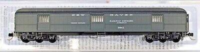 N Scale - MICRO-TRAINS LINE 149 00 100 NEW HAVEN 70' Heavyweight Horse Car #3841