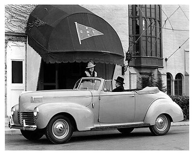 1940 Hudson Convertible Coupe ORIGINAL Linen-Backed Factory Photo oub5396