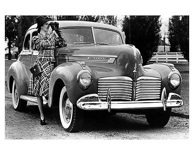 1941 Hudson Commodore Eight Coupe ORIGINAL Linen-Backed Factory Photo oub5385
