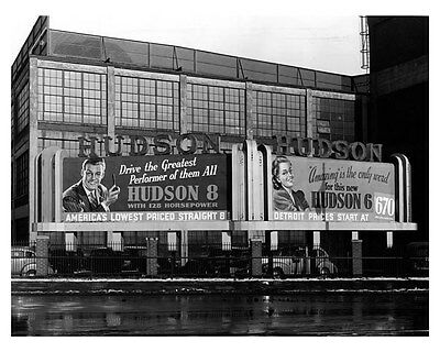1940 Hudson Billboard ORIGINAL Linen-Backed Factory Photo oub5390