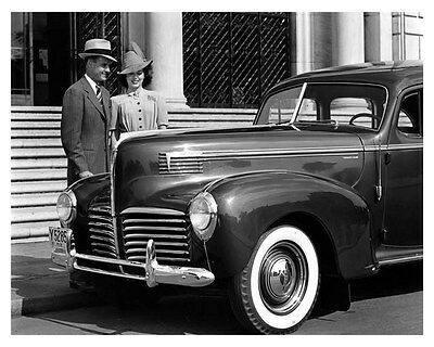 1940 Hudson Country Club Six Sedan ORIGINAL Linen-Backed Factory Photo oub5394