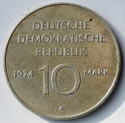 East Germany 10 mark 1974, 25 years of DDR 1949 -1974, Commemorative coin
