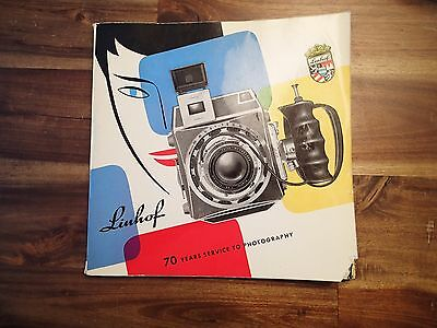 Linhof 70 Years Service To Photography Book 1960 Price List Latest Color Cameras