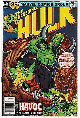 INCREDIBLE HULK #202 (VF+) JARELLA Cover Story Appearance! Classic Bronze-Age
