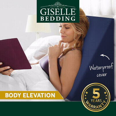 Giselle Bedding Memory Foam Wedge Pillow Cushion Neck Back Support Waterproof BU
