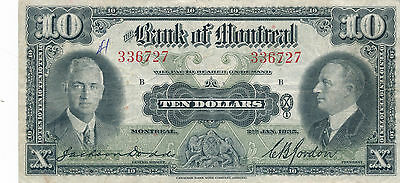 Bank of Montreal 1935 $10