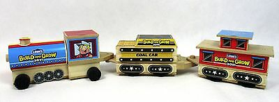 Lowe's Build and Grow Train Set Engine Coal Car Caboose Wood Kit Model Patch A22