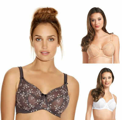 Fantasie 2761 Salsa Underwired Balcony Balconette Bra Charcoal Grey White Nude