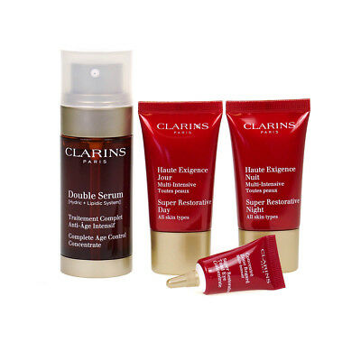 Clarins 30ml Double Serum Gift Set Super Restorative Anti Ageing Skincare Sets