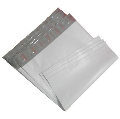 "100 10""x13"" 2 Mil WHITE POLY MAILERS SHIPPING ENVELOPES BAGS NEW 10""x13"""