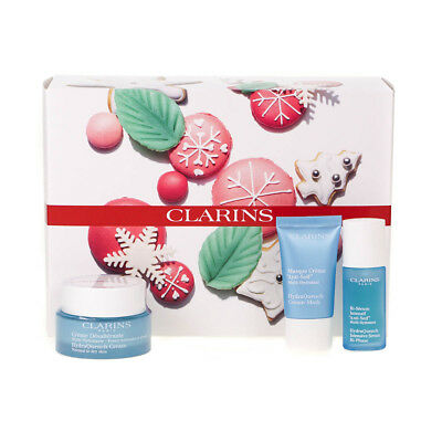 Clarins HydraQuench 50ml Cream and 15ml Cream Mask and 15ml Serum Gift Set