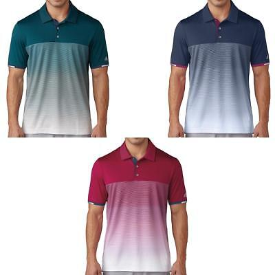 Adidas Golf 2017 Climacool Gradient Stripe Polo Shirt