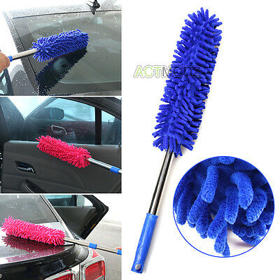 Car Wash Cleaning Brush Duster Dust Wax Mop Microfiber Telescoping Dusting Tool