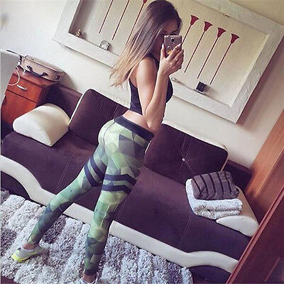 Donna Camouflage Yoga Workout Palestra Leggings fitness sport pantaloni Atletico