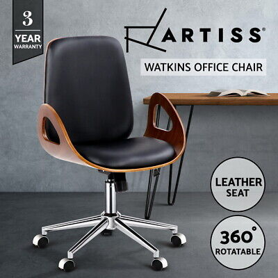 Artiss Executive Wooden Office Chair Leather Computer Chairs Work Seating Desk