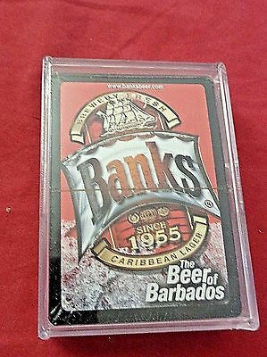 Banks The Beer of Barbados Playing cards Caribbean Lager Brewery Fresh New  Case