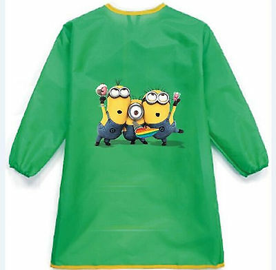 NEW Kid Boy Child water resist Minions Bib Back to school Apron Art Paint Smock