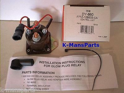 Motorcraft Glow Plug Relay 7.3 Ford Power Stroke DI Turbo Diesel 1994-2003