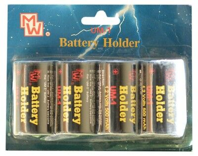 Quality AA to D HR20 Battery Converters [4-pack] Saves You Money!