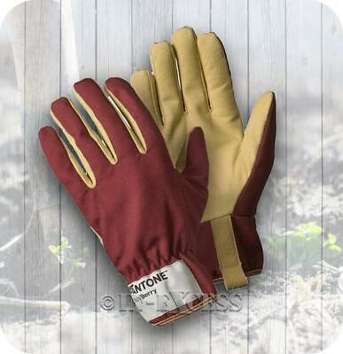 Ladies Rigger Classic Leather Palm Heavy Duty Gardening Gloves - Medium (7571)