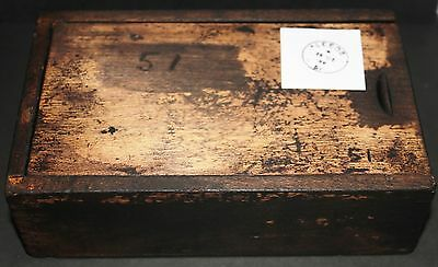 """GPO Post Office Royal Mail - Hand Date stamper for: LEEDS , """"51"""""""