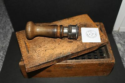 GPO Post Office Royal Mail - Hand Date stamper for WOMBWELL , BARNSLEY (2)
