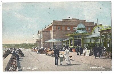 BRIDLINGTON New Spa, Old Postcard, Advance Photo, Old Postcard 1911