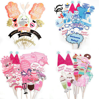 Wedding Birthday Baby Shower Photo Booth Props Mini Mister New Born Party