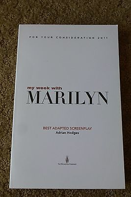 MY WEEK WITH MARILYN FYC For Your Consideration screenplay script