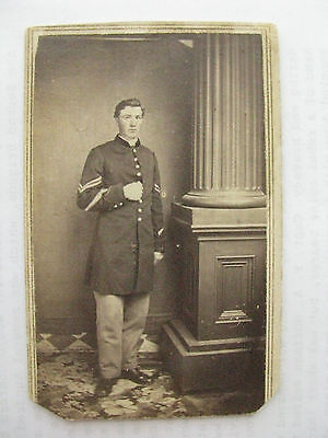 Iowa Civil War Soldier With Veteran Volunteer Service Chevrons Cdv Photo