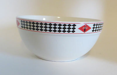 Coca Cola 3 Quart Mixing or Serving Bowl Black Diamond Rim  Popcorn