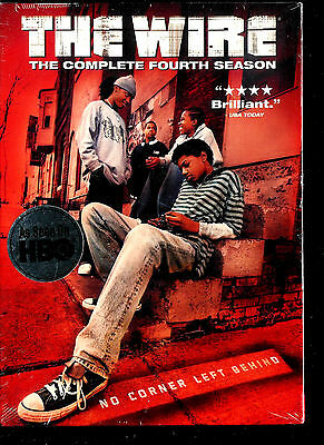 The Wire - The Complete Fourth Season (DVD, 2007, 4-Disc Set)SEALED BRAND NEW