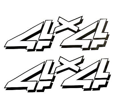 2 Black 4x4 Off Road Decals Sticker 4wd Truck Ford Chevy Dodge