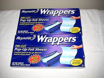 Reynolds Wrappers Pop Up / Foil Sheets 2 Pack No cutting or Tearing...