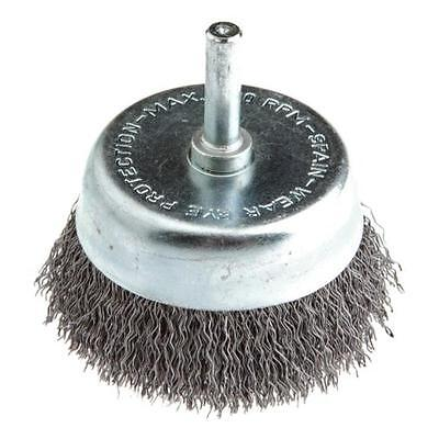 """2 1/2"""" Coarse Crimped Wire w/1/4"""" Shank Cup Brush Forney 60005 032277600058"""