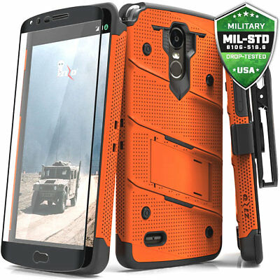 For LG Stylo 3 Case Cover Tempered Glass Kickstand Holster Armor FLAGSHIP
