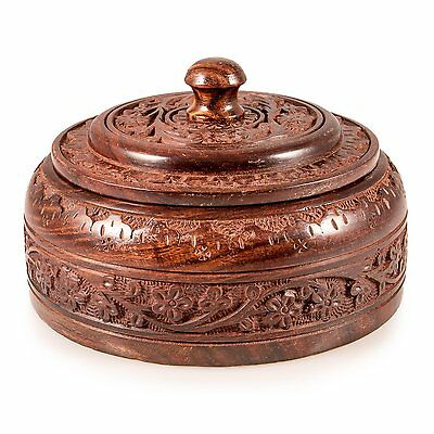 Indian Wooden Large Spice Box Organizer Containers Without Spices Masala Dabba