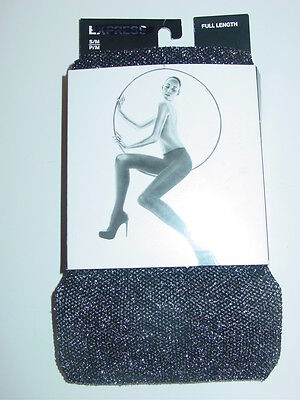 Express black silver glitter pantyhose tights holiday party sissy-M/L-NIP-$19.90