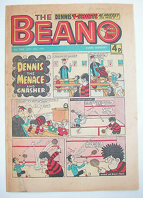 Vintage Beano Comic No.1789, 30th October 1976 –40 years old! Top Birthday Gift!