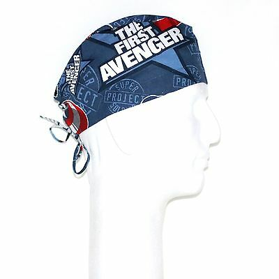 Marvel The First Avenger Captain America Theme Scrub Hat